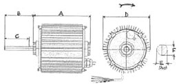 Fan Motors Dimensions